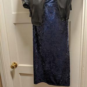 Lularoe Elegant Ivy Midi Faux-Velvet Skirt NWT 2X